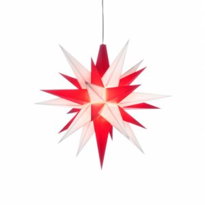 original Herrnhuter plastic star 5 inch in red/white