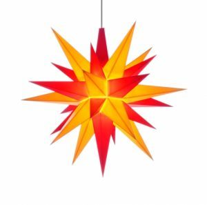 5 inch star yellow/red