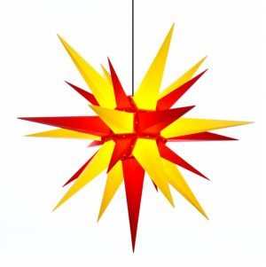 Star 51 inch yellow red