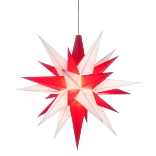 original Herrnhuter plastic star 5 inch in red/white