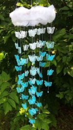 Mobile blue butterfly