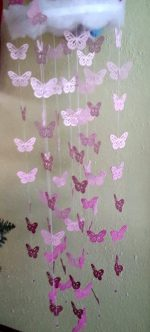 Mobile butterfly pink