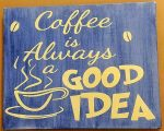 Canvas with coffee quotes