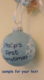 lit up Christmas tree ornament personalized with your quote