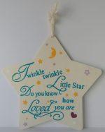 wooden star with a popular nursery rhymes